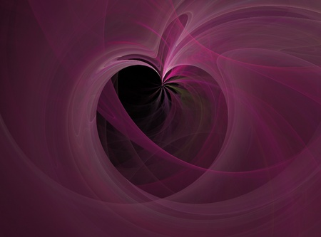 Violet abstract in black space. Flow of energy