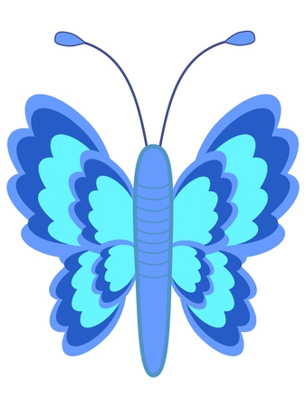 Beautiful cute ice blue butterfly from meadow Stock Vector - 19704633