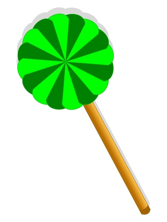 Green sweet lollipop  Children love it, yum yum