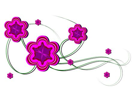 Cute floral decoration without leaves in purple color Stock Vector - 19704658