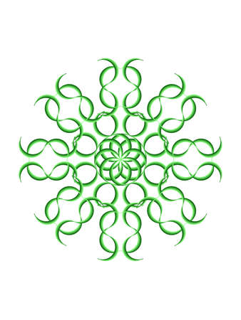 tinge: Nice green geometric mandala with white tinge