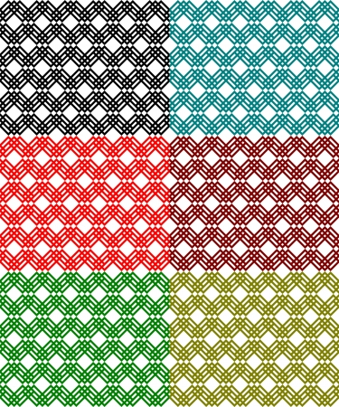 interlock: Lace pattern  Colored net pattern  Interlock lines Illustration