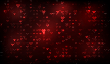 Abstract valentine background, background with shine hearts and red color on black background. Beautiful as wallpaper photo