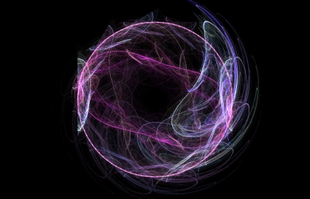 Abstract violet neon background. Sphere of light photo