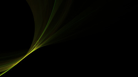 Abstract green shining shape on black background photo