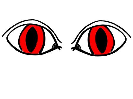 nightmarish: Black silhouette of red nightmarish eyes. Halloween eyes.