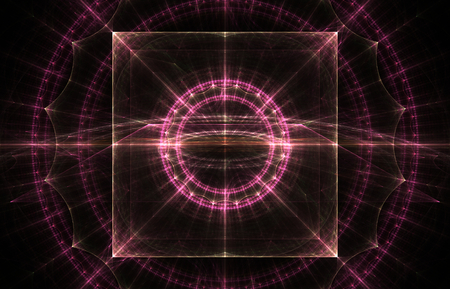 pinkish: Pinkish background with decorated square. Beautiful fractal