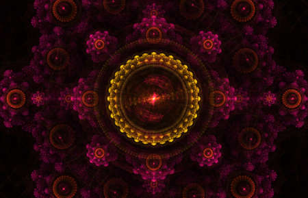 Beautiful colorful fractal shapes  photo