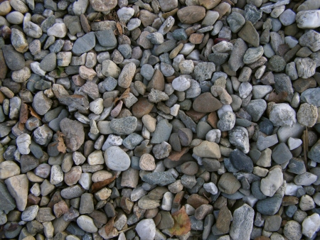 pebblestone: The gravel texture  Detail of lots of gravel Stock Photo