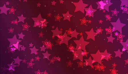 Abstract colorful wallpaper with many lights and stars Stock Photo