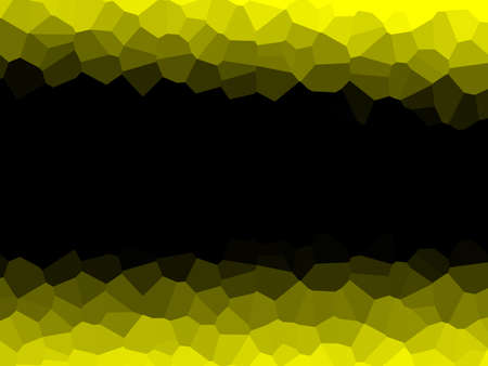 erratic: Yellow wallpaper consist of many irregular pieces Stock Photo