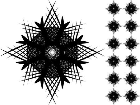 prickles: Shape in black color. Shape can be used also as seamless pattern.