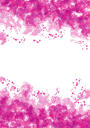 Frame made by pink watercolor with blobs Stock Photo - 25950817
