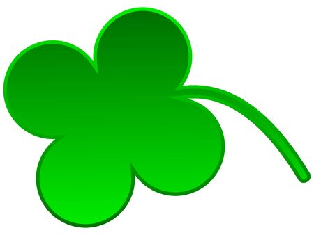 Cute green cloverleaf isolated on white background Stock Photo