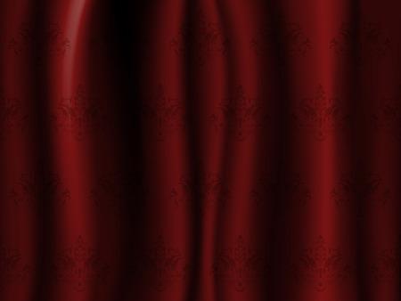 Wavy dark red curtain, beautiful like a wallpaper photo