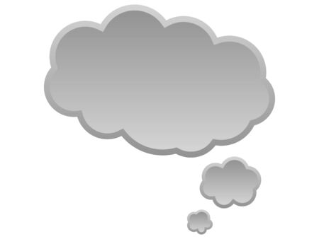 monologue: The speech balloon for ideas and thoughts Stock Photo