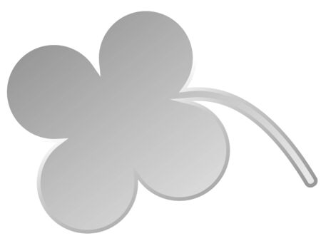Cute white cloverleaf isolated on white  Stock Photo
