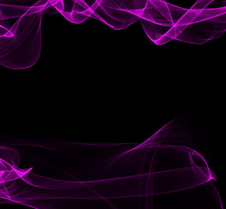 pinkish: Abstract fantasy wave shape on black background Stock Photo