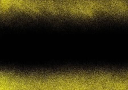 granulation: Yellow noise border with black background