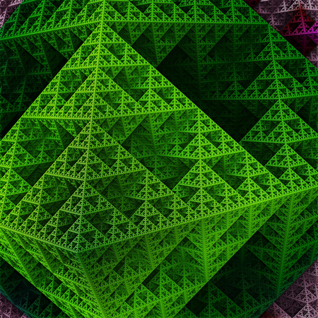 Part of sierpinski octahedron in green colors