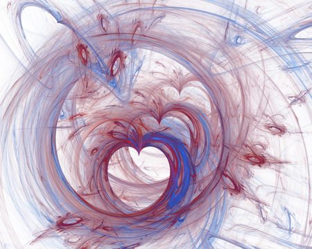 Nice abstract fractal shapes on white background