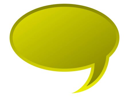 monologue: Speech bubble for your text in yellow color