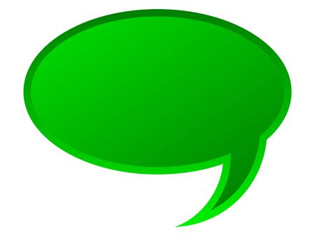 monologue: Speech bubble for your text in green color