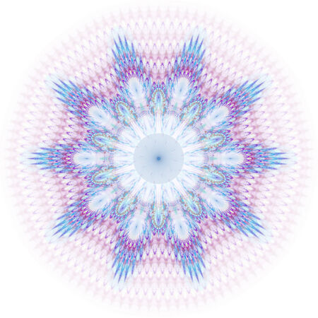 Beautiful abstract fractal shapes on white background
