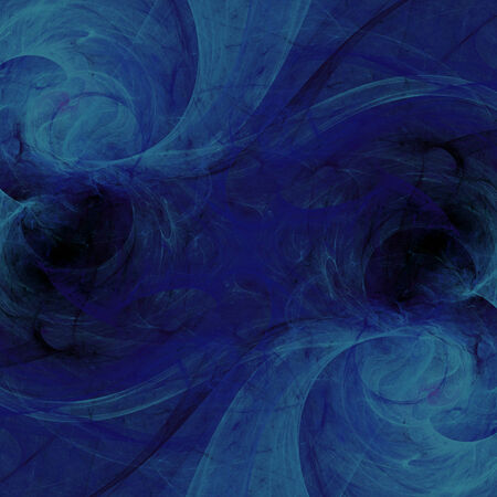 bluish: Blue abstract fractal wallpaper on black background Stock Photo