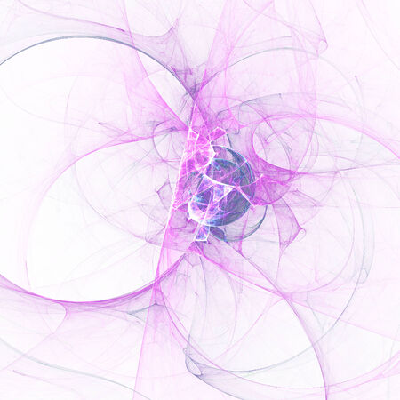 Abstract mauve fractal shapes  on white background Stock Photo