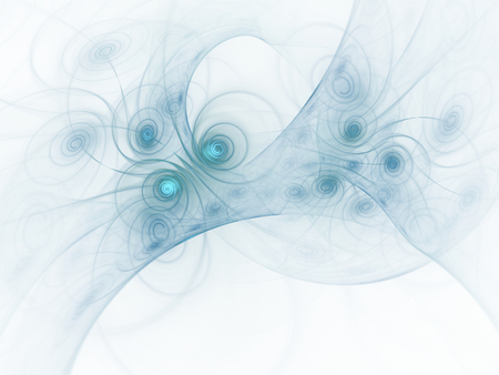bluish: Bluish abstract fractal wallpaper on white background
