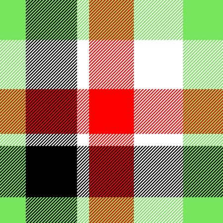 Tile of colorful tartan as seamless pattern photo