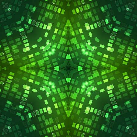 Abstract kaleidoscopic background as infinite seamless pattern Stock Photo