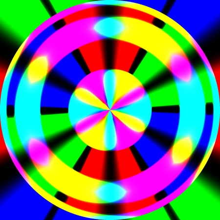 Abstract crazy colorful background on black background Stok Fotoğraf