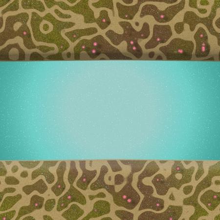 Crazy fantasy minimap with river, seamless tile