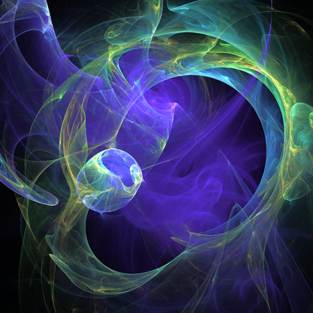 Nice abstract fractal shapes on black background photo
