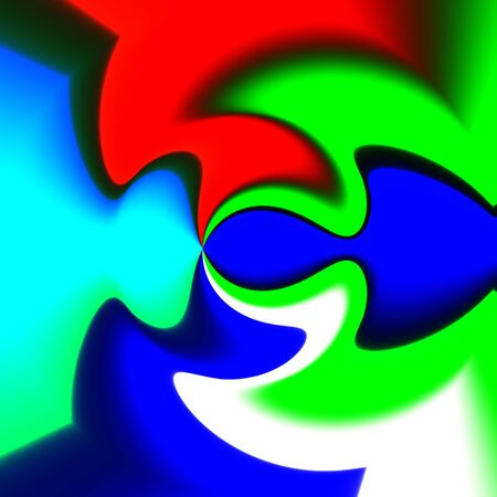 hallucination: Abstract crazy colorful shapes as unusual background Stock Photo