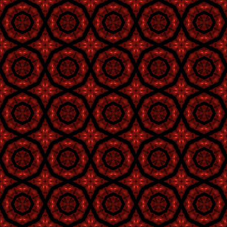 reddish: Abstract kaleidoscopic background as infinite seamless pattern Stock Photo