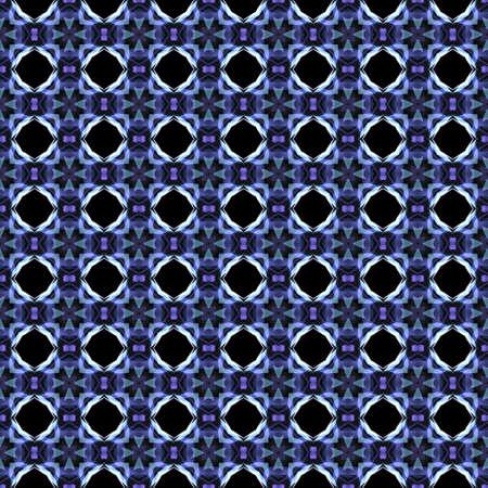 bluish: Abstract kaleidoscopic background as infinite seamless pattern Stock Photo