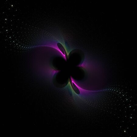 to bloom: Nice abstract fractal bloom on black background