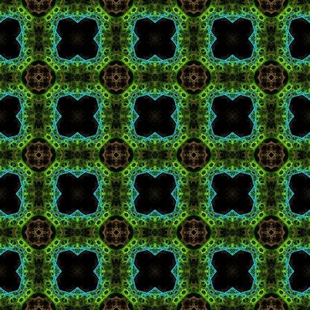 trance: Abstract kaleidoscopic background as infinite seamless pattern Stock Photo