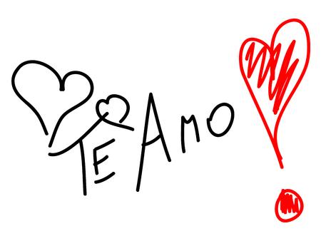 spanish language: Phrase I love you in spanish language Illustration