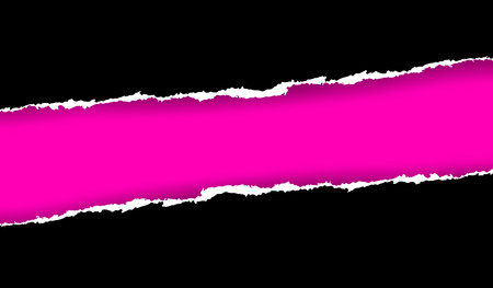 raggedy: The black ripped paper with pink base
