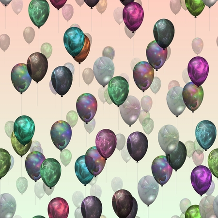 Party balloons on air like a seamless pattern photo
