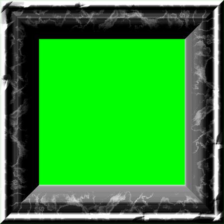 green screen: Nice frame and place for image with green screen