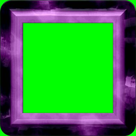 Nice frame with rounded corners and green screen