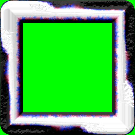 green screen: Nice frame with rounded corners and green screen