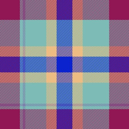 Tile of colorful tartan as seamless pattern photo