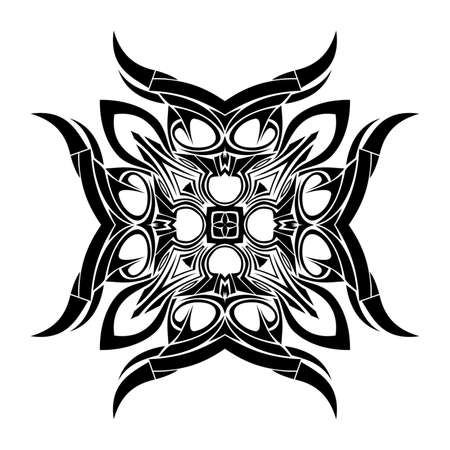 Ornamental pattern with abstract motif like a kaleidoscope photo