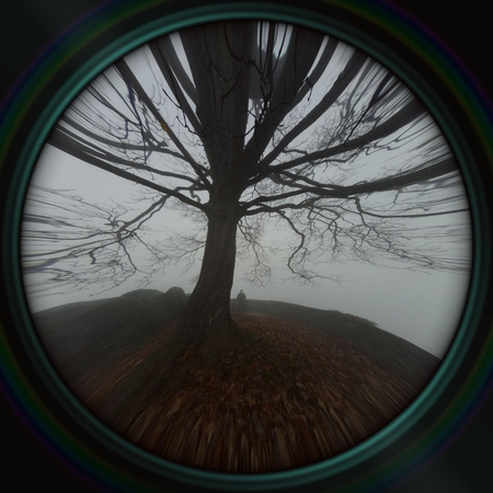 murk: Image like a view through the lens Stock Photo
